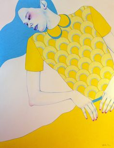 Illustration for New Nordic Fashion Illustration vol. 2 exhibition by Natalie Foss