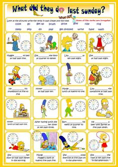 """Present simple """"Present Simple tense worksheet - Free ESL printable worksheets made by teachers"""", """"Multi-purpose task: reading, listening and writing. English Games, English Resources, Kids English, English Activities, English Lessons, Learn English, Grammar And Vocabulary, English Vocabulary, English Grammar"""