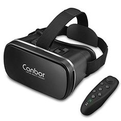 cool VR Headset, Canbor VR Goggles Virtual Reality Headset VR Glasses for 3D Video Movies Games for Apple iPhone, Samsung Sony HTC More Smartphones