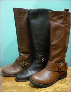 Riding boots are hot hot hot!! Here at Plato's Closet we have brands like Chinese Laundry, Soda and Eitienne Aigner!