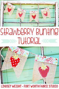 Strawberry Bunting Tutorial