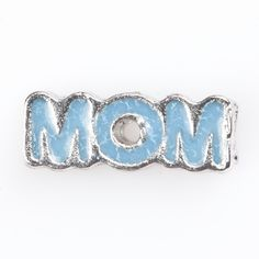 Mom living charm for glass lockets. This is adorable in the black story locket with crystals that we carry. www.smashingfancy.com