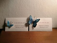 Oh we are so doing this! Wildflower seed packet - personalized wedding or shower favor - butterflies