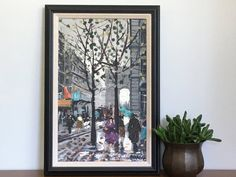 Vintage French Oil Painting Paris Street Scene Original Oil On Canvas Signed…