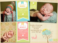 20 Adorable Spring Birth Announcements from Etsy!