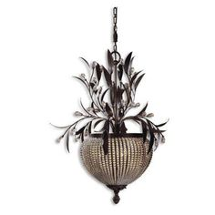 Uttermost 21004 Cristal De Lisbon 3-light Chandelier - 21004