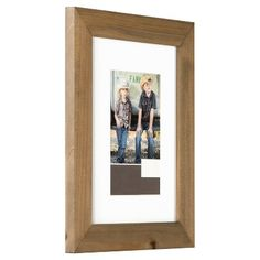Single Image Frame Wood Gallery with White Mat (8X10) Rustic