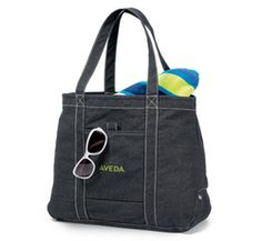 """Topsail Recycled Cotton Boat Tote:    Sturdy and fun in the sun look!!  * Sail away with this great tote!  * Oversized main compartment with snap closure  * Front pocket with contrast stitching  * Reinforced gusset with accent rivets  * Dual 22"""" shoulder straps  * Pen loop (Pen not included)"""