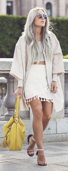 Pom Pom Fringe Skirt by Angelica Blick
