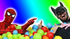 Spiderman and Batman GIANT SURPRISE EGGS Unboxing | SuperHeroes Real Lif...