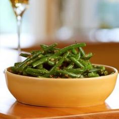 Lemon-Dill Green Beans - really good and easy to make.  steam green beans and toss with a no-cook dressing