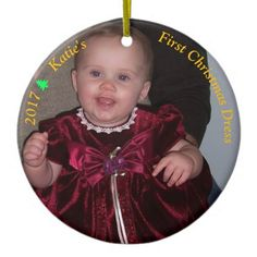 #Baby's First Christmas Ornament Your Photo - #Xmas #ChristmasEve Christmas Eve #Christmas #merry #xmas #family #kids #gifts #holidays #Santa