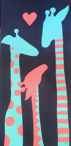 Giraffe Love on Etsy, $60.00