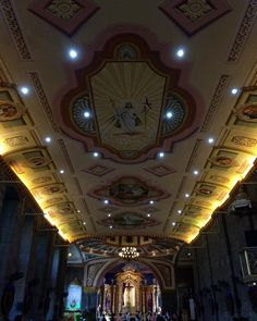 Pillila Parish Church #resurrection #jesus #stmagdalene #12apostles #magdalene #art #ceiling #dome #nofilter #prayers #paintings #rizal by roseann_mv http://ift.tt/1ijk11S