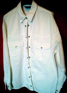 Kup mój przedmiot na #vintedpl http://www.vinted.pl/damska-odziez/koszule/20531355-biala-koszula-jeansowa
