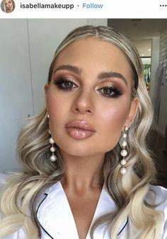 Glam Makeup, Beauty Makeup, Hair Makeup, Hair Beauty, Bridal Make Up, Wedding Make Up, Wedding Ideas, Bronze Makeup Look, Eye Color