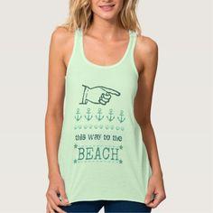 Summer Nautical Beach Directions T-Shirt  Tank Top