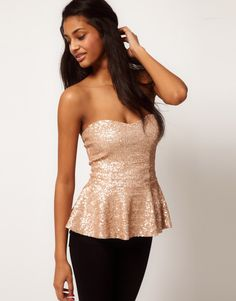 blush sequined top