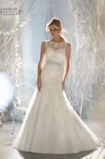 Cheap bridal gown, Buy Quality bridal gown design directly from China designer bridal gowns Suppliers: New Design A-line Sheer Neckline With Crystal Beads Tulle & Lace Wedding Dress 2017 Bridal Gown vestido de noiva Plus Size Mori Lee Bridal, Mori Lee Wedding Dress, Lace Wedding Dress, 2015 Wedding Dresses, Backless Wedding, Tulle Wedding, Wedding Dress Styles, Bridal Dresses, Wedding Gowns
