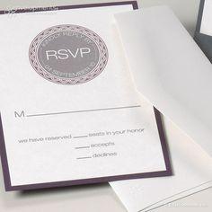 """Antwort-Karte   Hochzeit """"Brenda_Henry"""" von papeterie transfair auf DaWanda.com"""