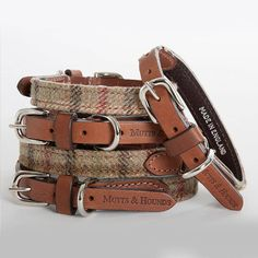 Tweed & Leather Dog Collar. How cute would Dante look in this?!