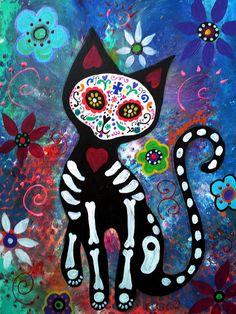 Day Of The Dead Cat Fine Art Print: http://fineartamerica.com/featured/day-of-the-dead-cat-pristine-cartera-turkus.html