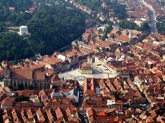Discovering Brasov in Transylvania Villas, Brasov Romania, Transylvania Romania, Famous Castles, I Want To Travel, Birds Eye View, Great View, Aerial View, Wonderful Places