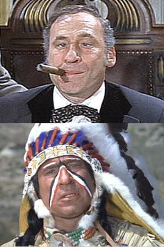 Mel Brooks in Blazing Saddles - I LOVE all his movies but this one is the best!