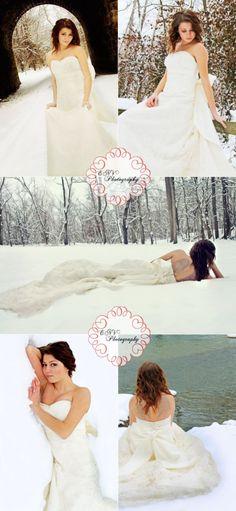 bride  trash the dress  enchanted  princess  photography  winter  snow