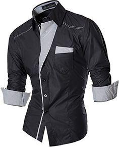 6929a905e99a FLATSEVEN Herren Freizeit Business Stretch Hemden Slim Fi…   Hemden Men    Pinterest   Hemden und Männer