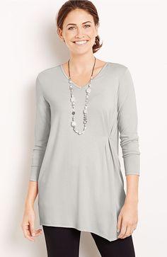 Wearever side-drape top from J.Jill.  I like the side pleat.