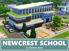 Stunning school inspired by The Sims This school works for elementary and high school, is fully furnished and decorated. With three floors, there is plenty for your Sims to do. Found in TSR Category 'Sims 4 Community Lots' Minecraft School, Minecraft City, Minecraft Buildings, Sims 4 Tsr, Sims Cc, Sims 4 Family House, Michigan, The Sims 4 Lots, Sims 4 Game Mods