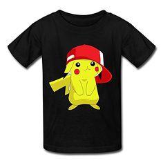 Kid's Geek Pokemon Pikachu White Background T-shirts Size L Black By Mjensen – Pokemon Tshirt for Men