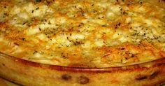 Batatas com Molho Branco e Queijo Gratinado