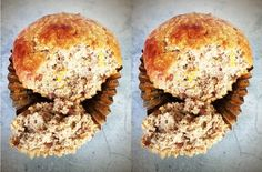 Power Protein Muffins: the perfect on-the-go snack or lunchbox item Protein Power, Protein Muffins, On The Go Snacks, Lunch Box, Breakfast, Food, Morning Coffee, Essen, Bento Box