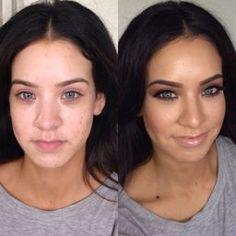 makeup MUA before and after smoky eye make over nude lips Highlight contour Contour Makeup, Contouring And Highlighting, Face Makeup, Vanity Bar, Eye Make, How To Make, Face Products, Nude Lip, Smoky Eye