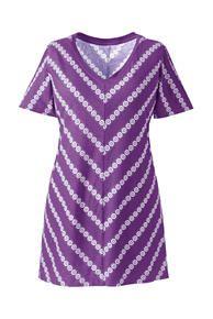 Plus Size Supima Cotton Jersey V-neck Tunic Top