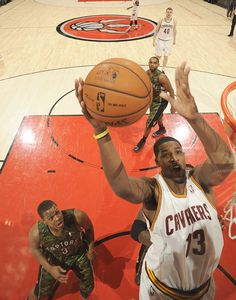 Forward Tristan Thompson goes to the basket during the game against the Toronto Raptors at the Air Canada Centre on January 26, 2013 in Toronto, Ontario, Canada - photo courtesy of Ron Turenne / NBAE via Getty Images.