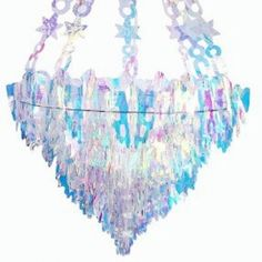 The iridescent hanging decoration is awesome for your events. Simply hang it on the ceiling to create a unique party set-up! Super cute, shiny and catches the light well - great party decoration, ve Balloon Shades, Ruffle Duvet, Hanging Chandelier, Hanging Banner, Light Well, Party Garland, Happy Birthday Parties, Spa Party, Shape Design