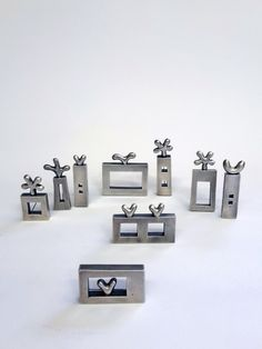 Electroformed silver brooches by Diana Greenwood 1997