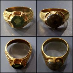 Rings @ Ashmolean Museum, Oxford From Thame hoard, gold and gems 1350-1450