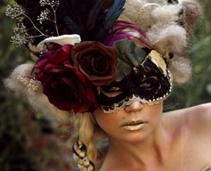 Handmade Masquerade Mask Darya by TwoTwentyTwoClothing on Etsy,