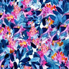 'Flower garden watercolor' by SaryandSaff Watercolor Pattern, Watercolour, Og Dolls, Fruit Pattern, Canvas Prints, Art Prints, Surface Pattern Design, Paper Texture, Textile Prints