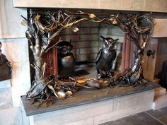 For those who don't use your fireplace - make it a work of art.