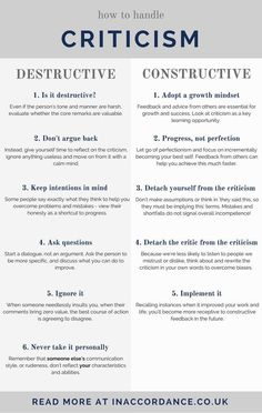 How to handle constructive and destructive criticism, using it to encourage personal growth - read more at IN ACCORDANCE Development Quotes, Self Development, Personal Development, Leadership Development, Professional Development, Guided Meditation, Trauma, Coaching Personal, Life Coaching