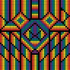 Bargello Patterns, Bargello Quilts, Quilt Block Patterns, Pixel Pattern, Pattern Art, Cross Stitch Gallery, Cross Stitch Fruit, Pixel Art Grid, Graph Paper Art