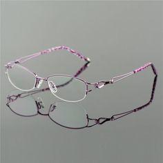 Metel Alloy Eyeglasses Half Rim Optical Frame Prescription Women. Computer  GlassesNew GlassesOptical FramesSpecsLensesLight ... bf1eaefbd3da