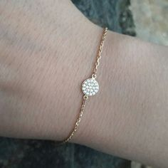 Check out this item in my Etsy shop https://www.etsy.com/listing/268679000/free-shippingpave-bracelet-pave-disc