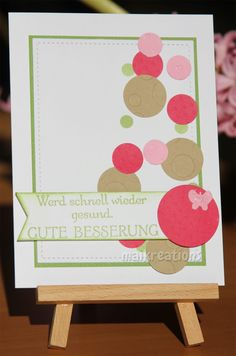 maikreations: Get well card with lots of dots Stampin Up stamp paired with some coloured cardstock.
