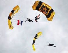 Golden Knights of the US Army. TELL YOUR FRIENDS that we'd love to see them at our aviation themed restaurant, The Left Seat West, in Glendale, Arizona. Check out our décor at: http://www.facebook.com/pages/Left-Seat-West-Restaurant/192309664138462